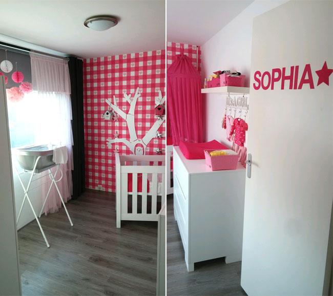 Binnenkijken babykamers babykamer sophia - Gordijn voor baby kamer ...
