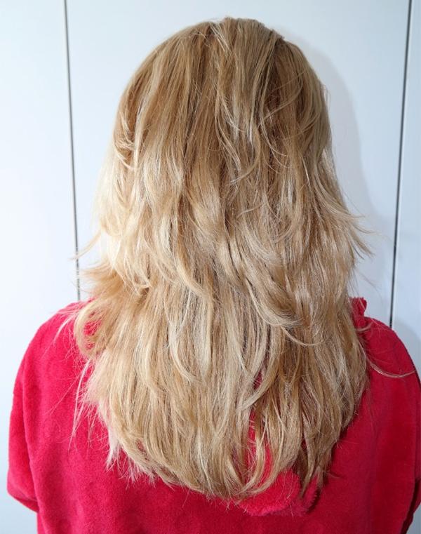 Het resultaat, met de keratine in mijn haar.