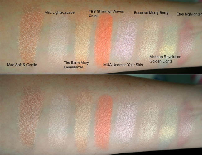 Highlighters budget en high end 21