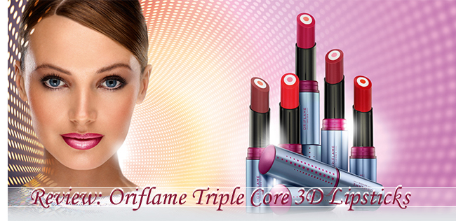 Oriflame Triple Core 3D Lipsticks