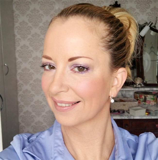 Vivien Kondor eyeshadow palette look