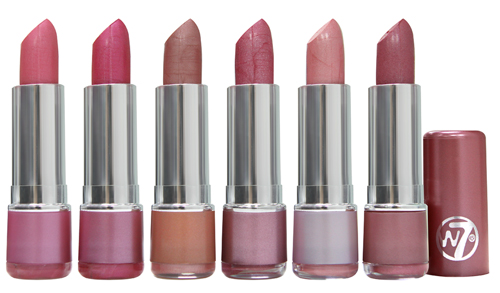 W7 Fashion lipsticks pinks