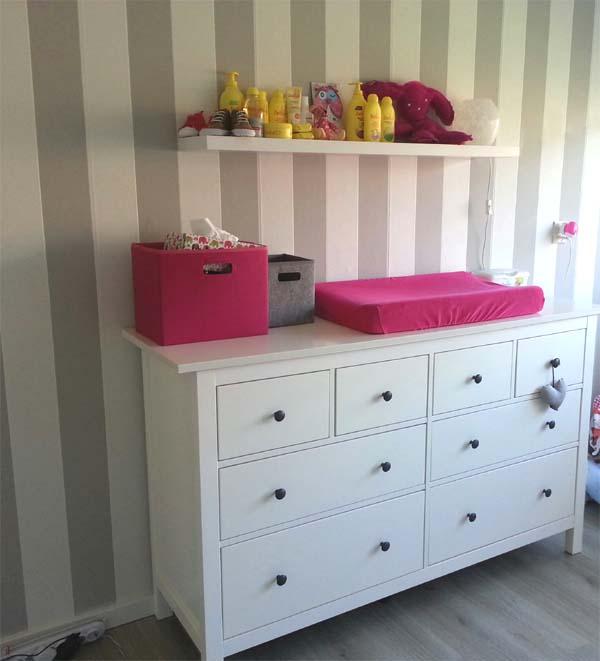 Binnenkijken babykamers babykamer sarah - Gordijn voor baby kamer ...