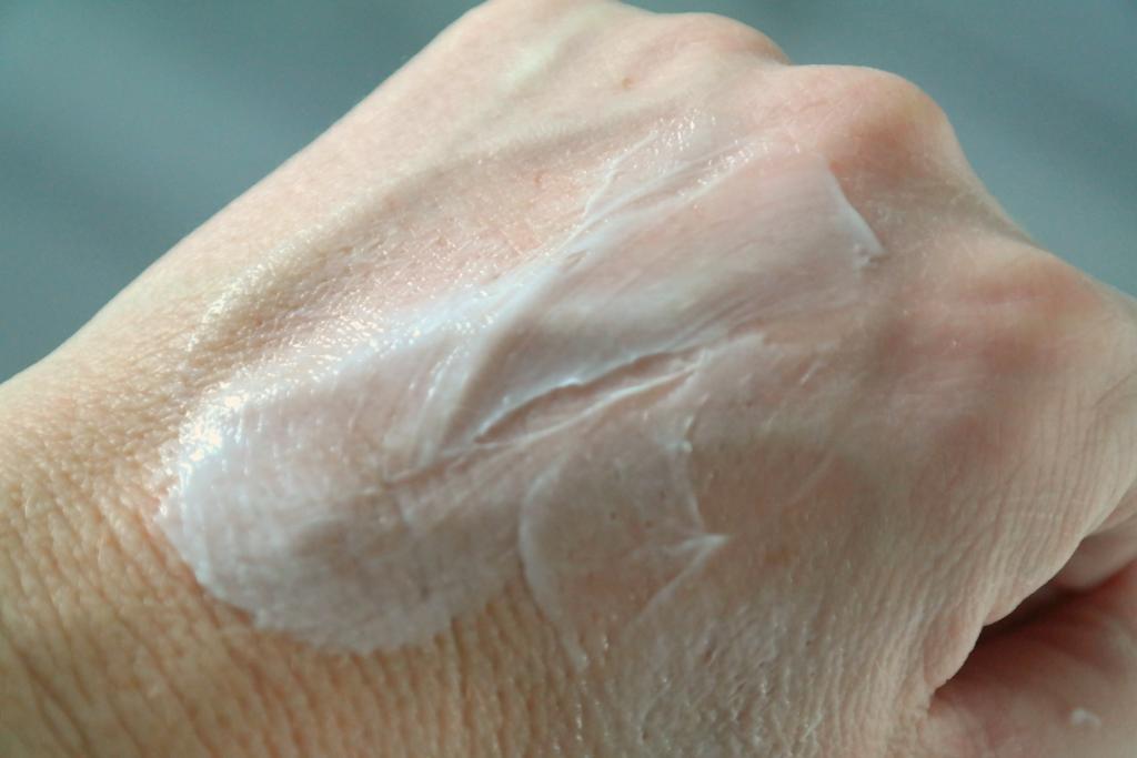handcreme gesmeerd
